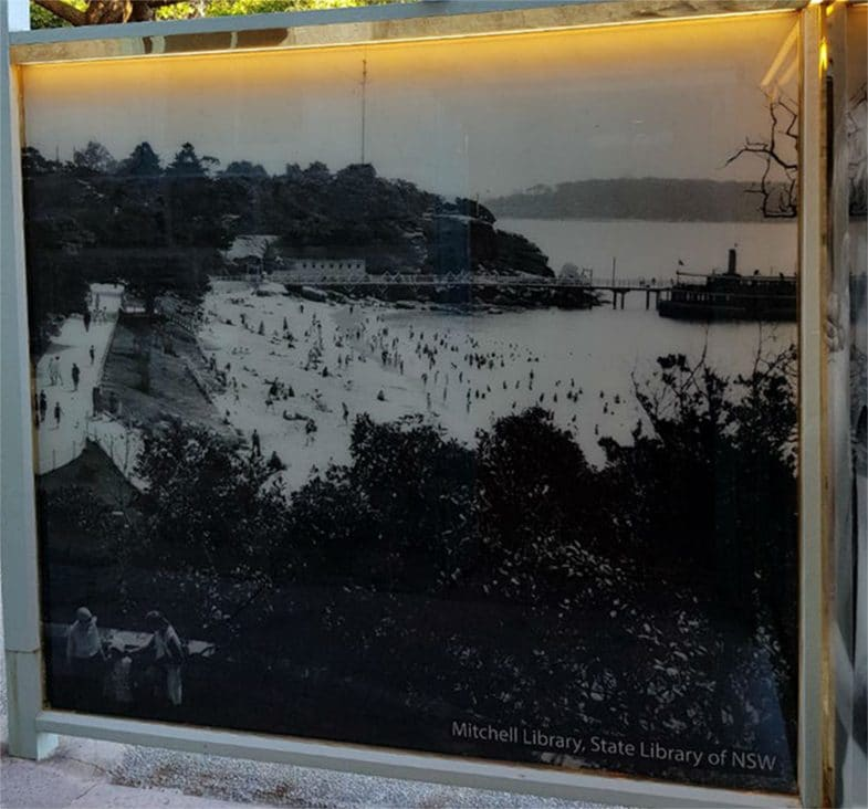 LED backlit decorative ceramic printed glass by Visual Glass Tech for Vaucluse local Council showcasing historical photos