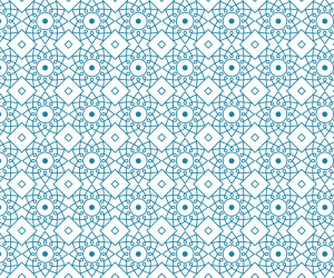 Sample blue oriental pattern from Visual Glass Tech's catalogue for glass printing