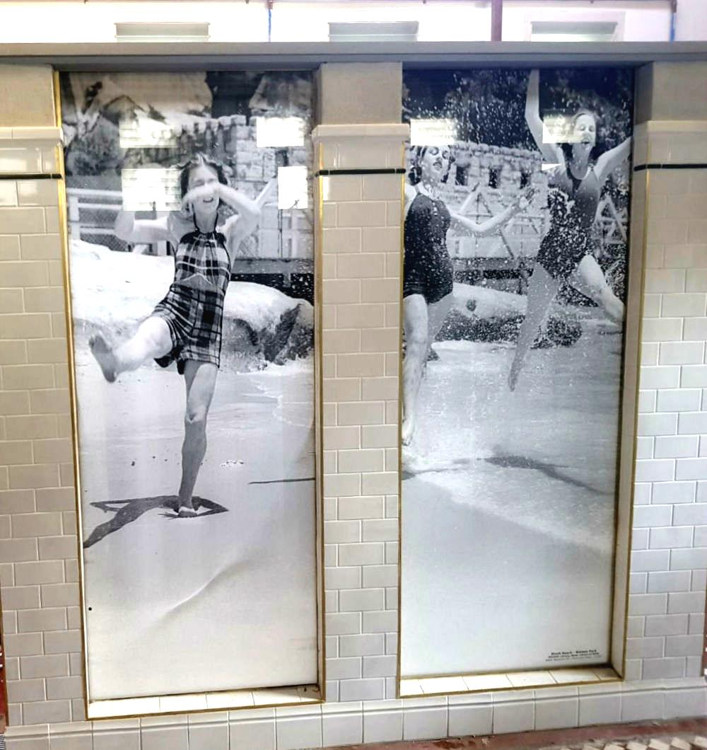 Printed Glass Shower Screen
