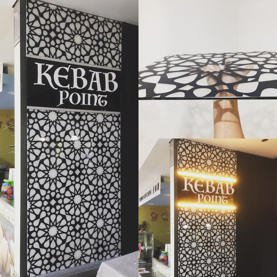Kebab Point printed glass